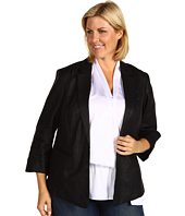 Anne Klein Plus - Plus Size Glazed Linen Shirt Jacket