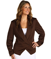 Anne Klein Plus - Plus Size Soft 1 Button Blazer