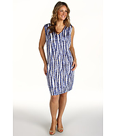Anne Klein Plus - Plus Size Streamers Print Dress