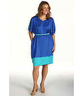Anne Klein Plus - Plus Size Colorblock Wedge Dress