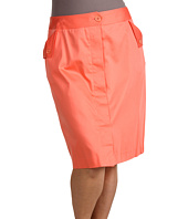 Anne Klein Plus - Plus Size Cotton Sateen Skirt