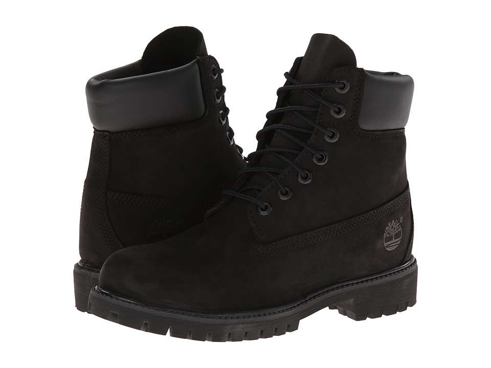 Timberland 6 Premium Boot (Black Nubuck) Men's Lace-up Boots