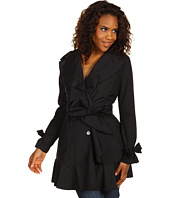 Cole Haan - Packable Trench with Ruffle Detail