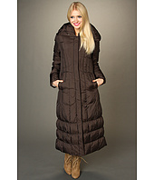 Cole Haan - Classic Down Long Coat w/ Dart Stitch Details