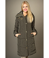 Cole Haan - Taffeta Down Seamed Coat w/ Gold Hardware