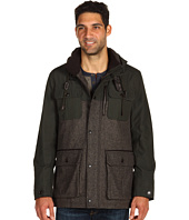 Cole Haan - Herringbone Mixed Media Parka