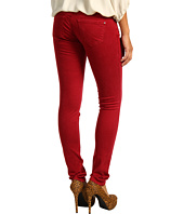 Mavi Jeans - Serena Low-Rise Super Skinny Sueded Denim in Sueded Red