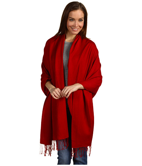 Betsey Johnson Cashmere/Silk Real Pashmina - Red