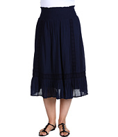 DKNY Jeans - Plus Size Cotton Crinkle Gauze Maxi Skirt