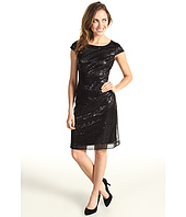 Tahari by ASL - Leo Short Sleeve Sequin Shift Dress