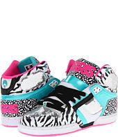 Osiris Black-Zebra-Pink NYC83 Shearling Womens Hi Top Shoe