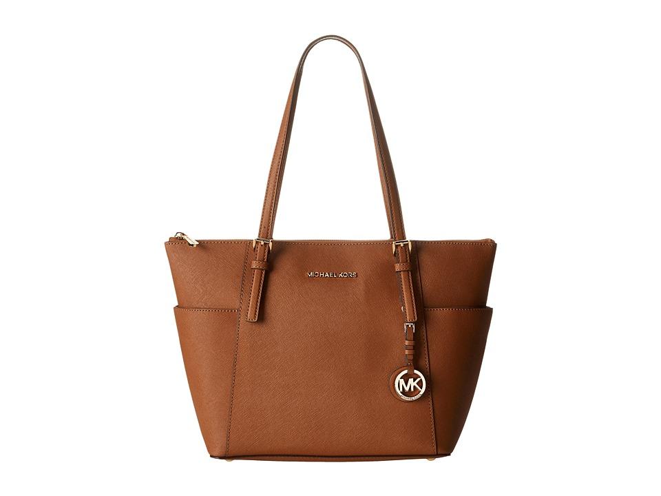 MICHAEL Michael Kors - Jet Set Saffiano Top Zip Tote (Luggage) Tote Handbags