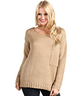 DEPT - Front Pocket Off Shoulder Sweater