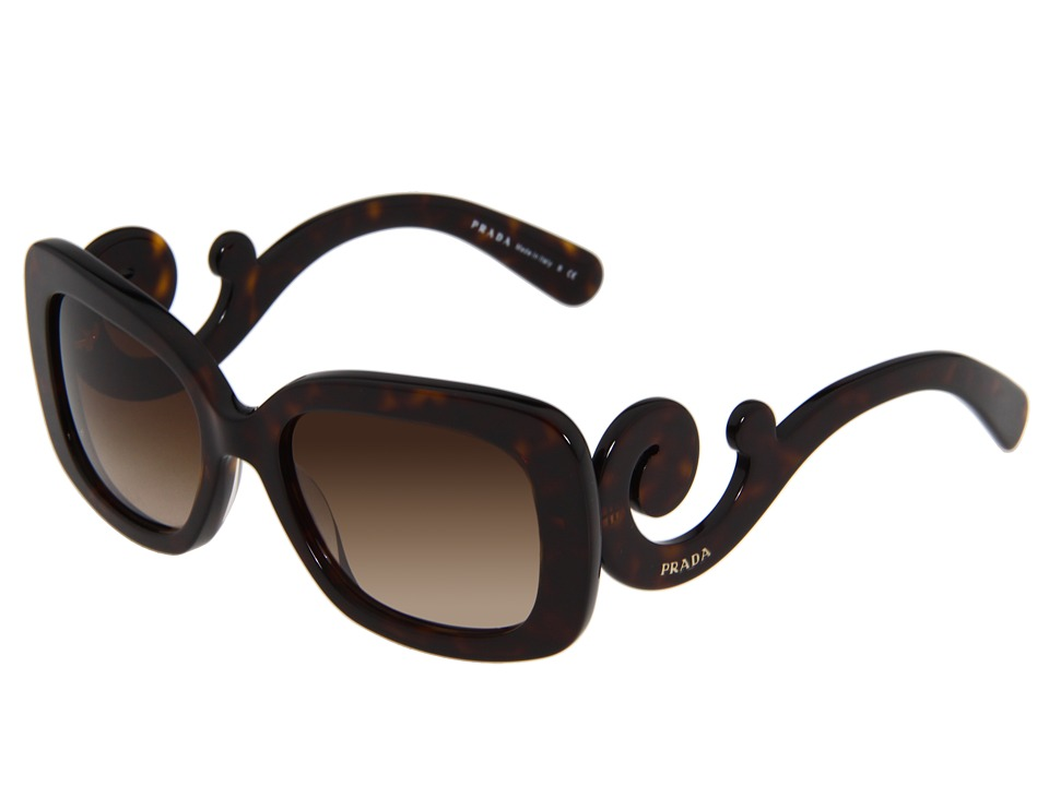 Prada - 0PR 27OS (Havana/Brown Gradient) Plastic Frame Fashion Sunglasses