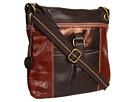 The Sak Kendra Leather Crossbody (Teak Multi)