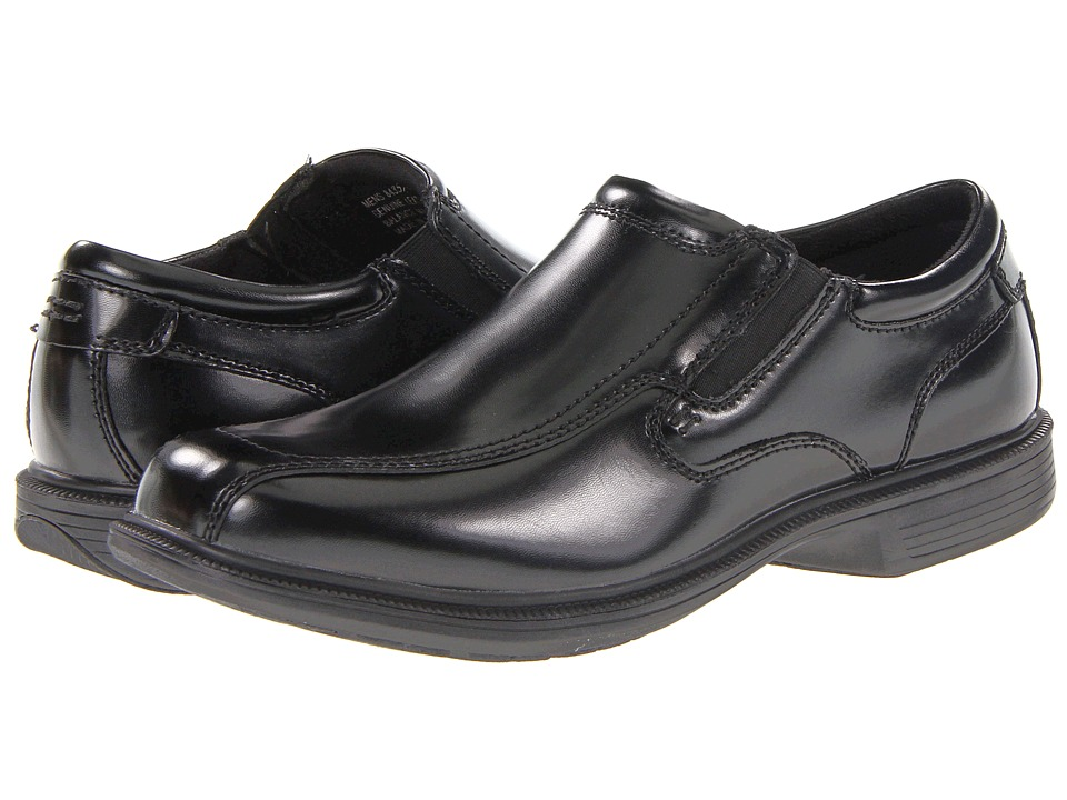 Nunn Bush - Bleeker St. Bicycle Toe Slip-On (Black) Men