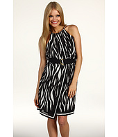 Vince Camuto - Buenos Aires Engineered Ikat Tiger Halter Dress