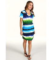 Tommy Bahama - Hazy Ikat Stripe V-Neck T-Shirt Dress