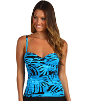 Tommy Bahama - Tortola Leaf Foam Cup Tankini w/ Center Tab