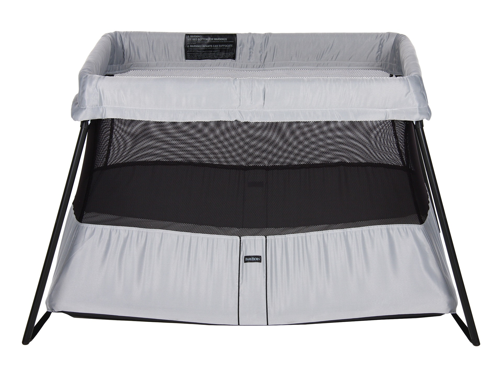 babybjorn travel crib light babybjorn blue shipped free at zappos. Black Bedroom Furniture Sets. Home Design Ideas