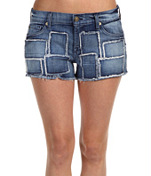 7 For All Mankind - Cut-Off Short in Indigo Patchwork