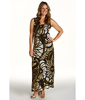 Karen Kane Plus - Plus Size Desert Flower Print Mesh Dress