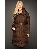 Cole Haan - Essential Down Belted Chevron Quilted Coat