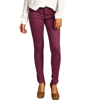 Mavi Jeans - Serena Low-Rise Super Skinny Sueded Denim in Sueded Plum