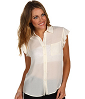 AG Adriano Goldschmied - Crepe Chiffon Raw Edge Sleeveless Shirt