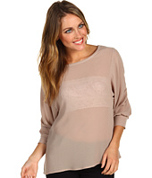 AG Adriano Goldschmied - Crepe Chiffon Peasant Sleeve Top