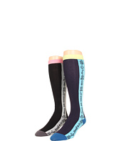 Anna Sui - Side Mod Clocks Stripe Knee Sock (2-Pack)