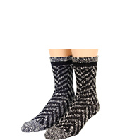 Anna Sui - Chevron Tweed Crew Sock (2-Pack)