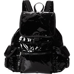 1sale lesportsac voyager backpack black patent review. Black Bedroom Furniture Sets. Home Design Ideas