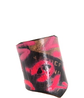 Leather Couture by Jessica Galindo - Alphabetum Freeform Cuff--Graffiti
