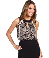 Jones New York - Python Print Embellished Neck Blouse