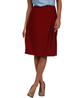 Jones New York - Solid Double GGT Gather Front Wrap Style Skirt