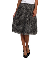 Jones New York - Mini Leopard Pleated Mid Length Skirt