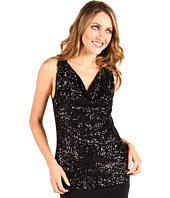 Jones New York - Sequined Sleeveless Drape Neck Sweater