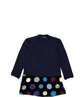 Fendi Kids - Girls' L/S Dress w/ Printed Velvet Bottom (Toddler)