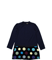 Fendi Kids - Girls' L/S Dress w/ Printed Velvet Bottom (Little Kids/Big Kids)