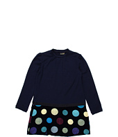 Fendi Kids - Girls' L/S Dress w/ Printed Velvet Bottom (Big Kids)