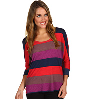 Splendid - Colorblock Rugby Drape Back Top