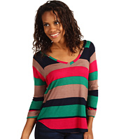 Splendid - Barcelona Stripe V-Neck Top