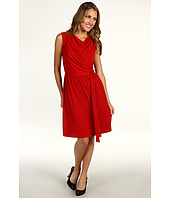 Donna Morgan - Side Draped Extended Shoulder Dress w/ Hanging Drape