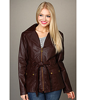 Jessica Simpson - Overdyed Faux Leather Blazer