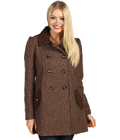 Jessica Simpson - Tweed Coat w/ Faux Suede Trim