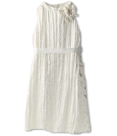 Us Angels - Blush Crinkle Satin High Neck Trapeze Dress (Big Kids)