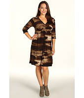 Karen Kane Plus - Plus Size Sequoia Shirred A-Line Dress