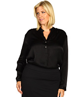 Karen Kane Plus - Plus Size Split Placket Shirred Blouse