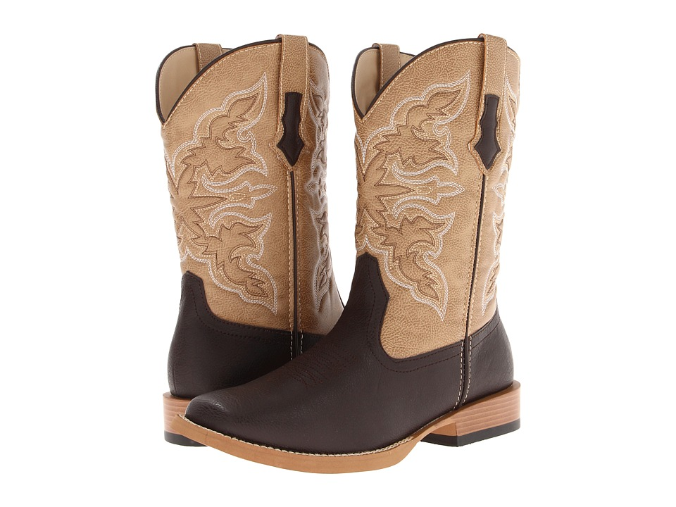 Roper - Square Toe Cowboy Boot (Brown) Cowboy Boots